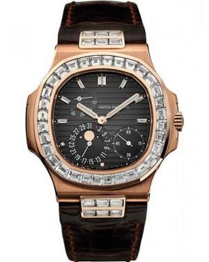 Exact Replica Patek Philippe Nautilus 5724R-001 Mens Rose Gold Watch