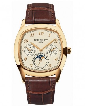 Replica Patek Philippe Perpetual Calendar Moonphase Cushion 5940J-001 Yellow Gold Watch