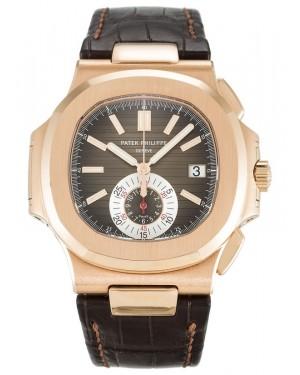 Exact Replica Patek Philippe Nautilus 5980R-001 Mens Rose Gold Watch