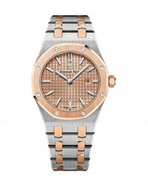 Exact Replica Audemars Piguet Royal Oak Lady Quartz 33mm Steel And Pink Gold 67650SR.OO.1261SR.01 Watch