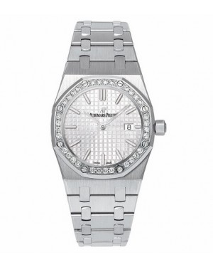 Exact Replica Audemars Piguet Royal Oak Lady Quartz 33mm Stainless Steel Silver Dial 67651ST.ZZ.1261ST.01 Watch