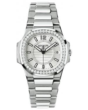 Exact Replica Patek Philippe Nautilus 7010/1G-001 Ladies White Gold Watch