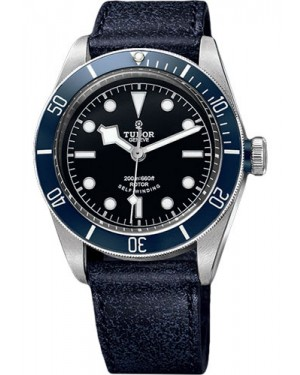 Replica Tudor Heritage Black Bay Stainless Steel Leather 79220B
