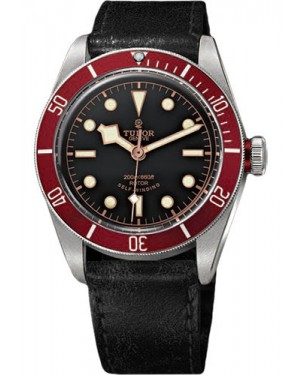Replica Tudor Heritage Black Bay Stainless Steel Aged Leather 79220R