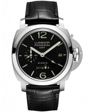 Replica Panerai Luminor 1950 8 Days GMT 44mm Steel PAM00233