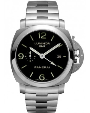 Replica Panerai Luminor 1950 3 Days GMT 44mm Steel Automatic PAM00329