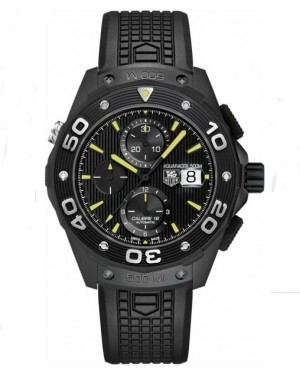 Exact Replica TAG Heuer Aquaracer 500M Chronograph Black Titanium Automatic 44mm CAJ2180.FT6023 Watch