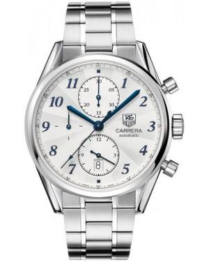 Exact Replica TAG Heuer Carrera Heritage Calibre 16 Chronograph Blue Markers CAS2111.BA0730