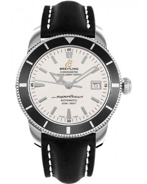 Exact Replica Breitling Superocean Heritage 42 Black Leather Strap A1732124/G717 Watch