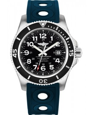 Exact Replica Breitling Superocean II 44mm Black Dial Blue Ocean Racer II Strap A17392D7/BD68 Watch