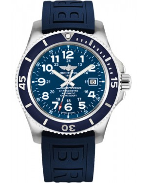 Exact Replica Breitling Superocean II 44mm Blue Dial Blue Diver Pro III Strap A17392D8/C910 Watch