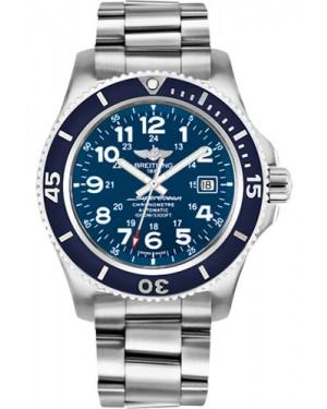 Exact Replica Breitling Superocean II 44mm Blue Dial Steel Professional III Bracelet A17392D8/C910 Watch