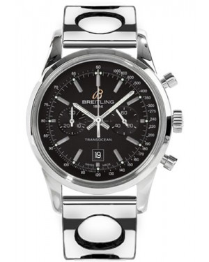 Replica Breitling Transocean Chronograph 38 Stainless Steel Air Racer Bracelet Black Dial A4131012/BC06 Watch
