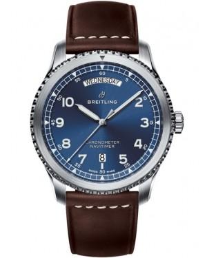 Replica Breitling Navitimer 8 Day & Date 41 Steel Blue A45330101C1X2