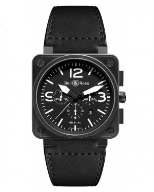 Replica Bell & Ross Aviation BR01-94 Black Steel Chronograph