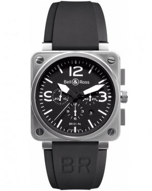 Replica Bell & Ross Aviation BR01-94 Steel Chronograph