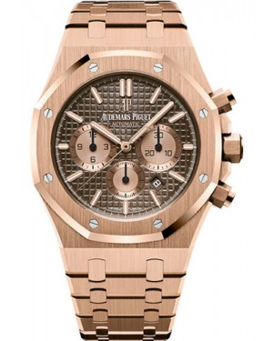 Replica Audemars Piguet Royal Oak Chronograph 41mm Pink Gold Brown Dial 26331OR.OO.1220OR.02