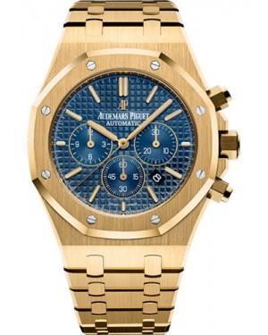 Replica Audemars Piguet Royal Oak Chronograph 41mm Gold Blue Dial 26320BA.OO.1220BA.02