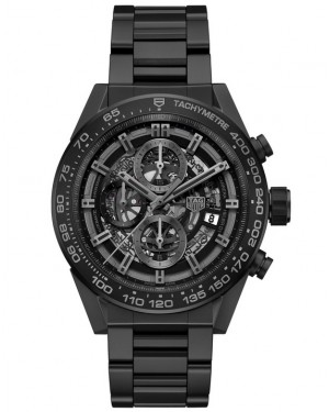 Replica TAG Heuer Carrera Heuer-01 Full Black Matt Ceramic CAR2A91.BH0742