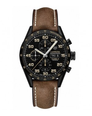 Replica TAG Heuer Carrera Calibre 16 Day-Date Black Titanium Chronograph CV2A84.FC6394