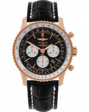 Exact Replica Breitling Navitimer 01 RB012721/BD10 46mm Red Gold Black Croco Strap