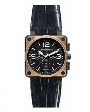 Replica Bell & Ross Aviation BR01-94 Pink Gold