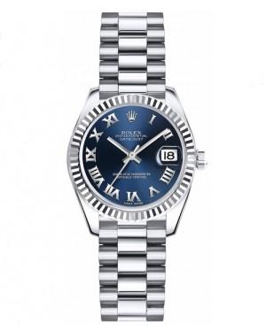 Replica Rolex Datejust Lady 26mm Blue Roman Dial 179179