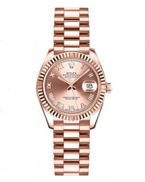 Replica Rolex Datejust Lady 26mm Pink Roman Dial 179175