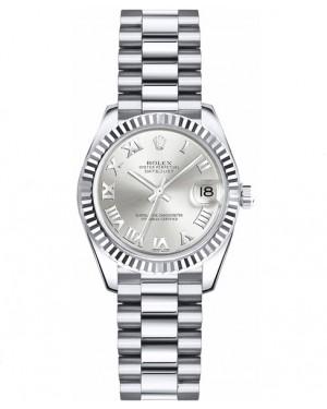 Replica Rolex Datejust Lady 26mm Silver Roman Dial 179179