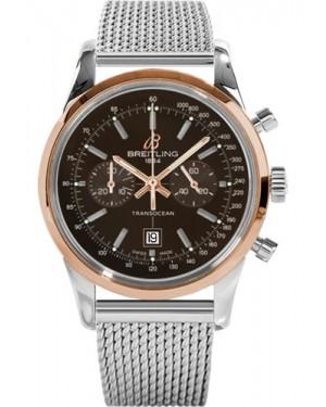 Replica Breitling Transocean Chronograph 38 Two Tone Ocean Classic Bracelet Bronze Dial U4131012/Q600 Watch