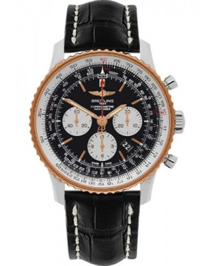 Exact Replica Breitling Navitimer 01 UB012721/BE18 46mm Steel and Gold Black Croco Strap
