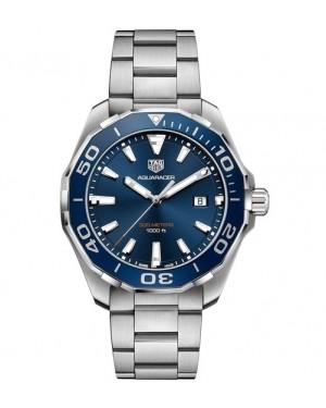 Replica TAG Heuer Aquaracer 300m 43mm Blue Bezel Quartz Watch WAY101C.BA0746