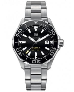 Replica Tag Heuer Aquaracer 300M Calibre 5 Steel Black Dial WAY201A.BA0927