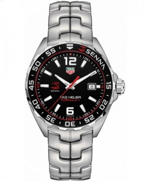 Replica Tag Heuer Formula 1 Senna Quartz Steel Black Dial Watch WAZ1012.BA0883