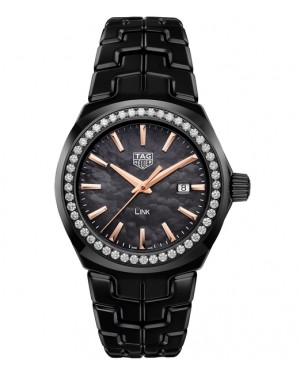 Replica TAG Heuer Link Lady Black Ceramic Black Mother-of-pearl Dial WBC1390.BH0744