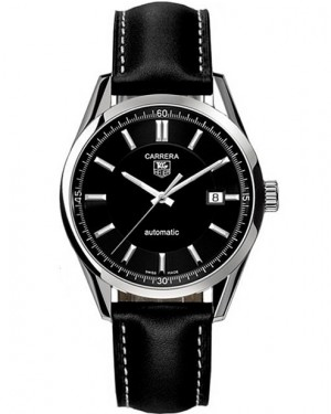 Replica Tag Heuer Carrera Calibre 5 Black Dial Automatic Watch WV211B.FC6202